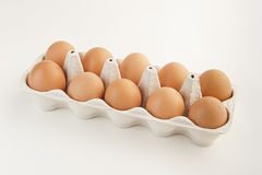 Oeufs de Brown Image stock