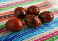 Oeufs de caille de couleur de Pâques Images stock
