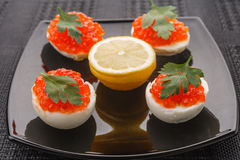 Oeufs de caviar Photos stock