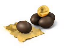 Oeufs de chocolat Photo stock