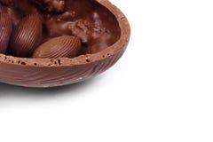 Oeufs de chocolat photos stock