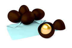 Oeufs de chocolat Photo stock