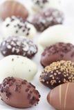 Oeufs de chocolat de Pâques Images libres de droits