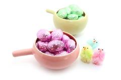 Oeufs de chocolat de Pâques Photographie stock