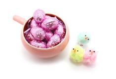 Oeufs de chocolat de Pâques Images stock