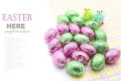 Oeufs de chocolat de Pâques Image stock
