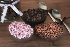 Oeufs de chocolat de Pâques Photos stock