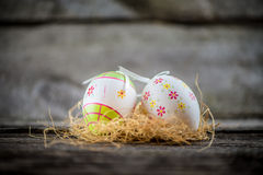 Oeufs de décoration de Pâques Photos libres de droits