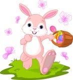 Oeufs de dissimulation de lapin de Pâques illustration de vecteur