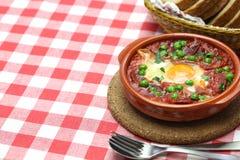 Oeufs de flamenco, huevos un flamenca de La Photographie stock libre de droits