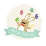 Oeufs de jonglerie d'un lapin de Pâques illustration stock