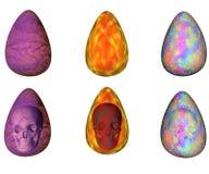 Oeufs de pâques abstraits Photos libres de droits