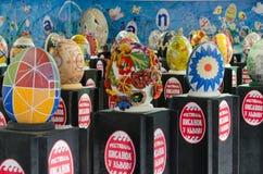 Oeufs de pâques au festival dans Lvov Image stock