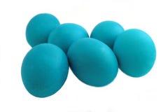 Oeufs de pâques bleus photographie stock libre de droits