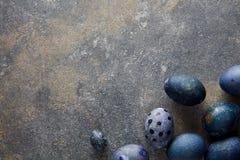 Oeufs de pâques bleus Photo libre de droits