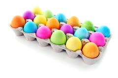 Oeufs de pâques colorés Photos stock