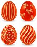 Oeufs de pâques colorés illustration stock