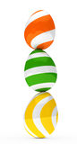 Oeufs de pâques colorés illustration libre de droits