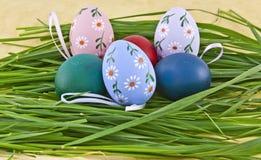 Oeufs de pâques colorés Photos libres de droits
