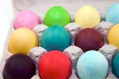 Oeufs de pâques colorés Image libre de droits