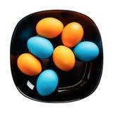 Oeufs de pâques colorés Photo stock