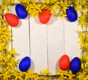 Oeufs de pâques colorés Images libres de droits