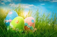 Oeufs de pâques décorés photographie stock libre de droits