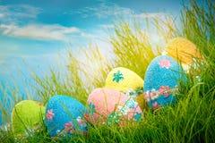 Oeufs de pâques décorés photo libre de droits