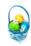 Oeufs de pâques décoratifs Photo stock