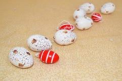 Oeufs de pâques décoratifs Images libres de droits