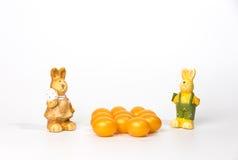 Oeufs de pâques d'or Photographie stock libre de droits