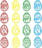 Oeufs de pâques d'aquarelle Images stock