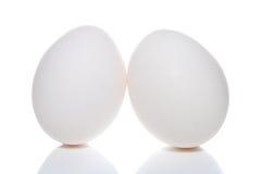 Oeufs de pâques d'isolement sur un blanc Photo libre de droits