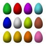 oeufs de pâques d'Un-couleur Images stock