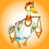 Oeufs de pâques de canard Image libre de droits