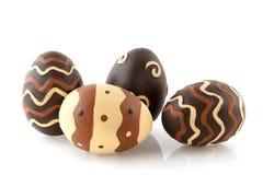 Oeufs de pâques de chocolat images libres de droits