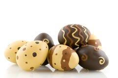 oeufs de pâques de chocolat photographie stock libre de droits