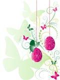 oeufs de pâques de fond fleuris Images libres de droits