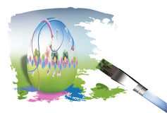 oeufs de pâques de peinture Illustration Libre de Droits