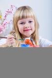 Oeufs de pâques de peinture Photographie stock libre de droits