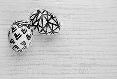 Oeufs de pâques en noir et blanc Photo libre de droits