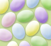 Oeufs de pâques en pastel Photo stock