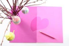 Oeufs de pâques en pastel Photographie stock