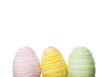 Oeufs de pâques en pastel frais Image stock