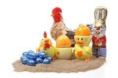 Oeufs de pâques et lapin de Pâques Image libre de droits