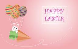 Oeufs de pâques et petits art de lapin et style blancs mignons, métiers numériques, fonds d'image, illustrations - vecteur illustration de vecteur