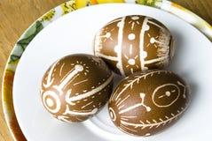 Oeufs de pâques fabriqués à la main Image libre de droits