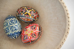 Oeufs de pâques fabriqués à la main Images libres de droits