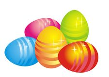 Oeufs de pâques, illustration de vecteur   Images libres de droits
