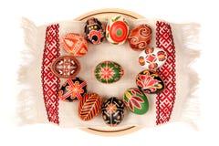 Oeufs de pâques, jour heureux de Pâques Photos libres de droits